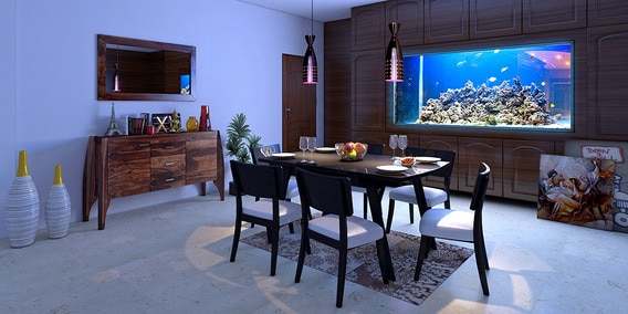 Contemporary fusion dining room
