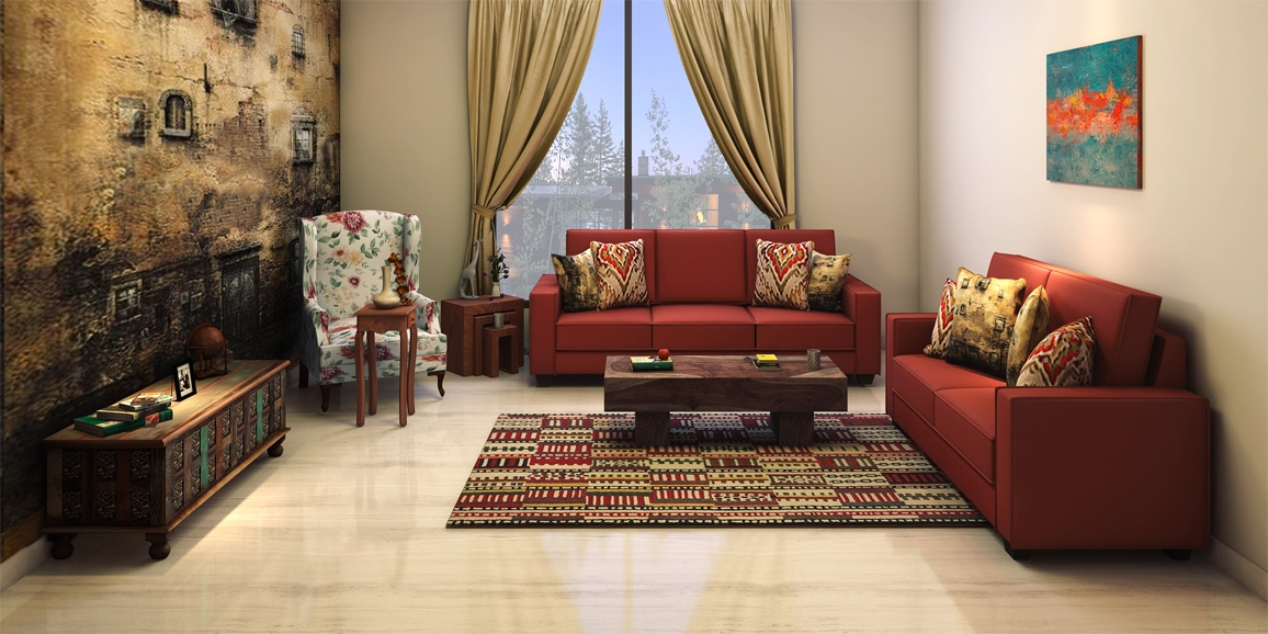 Eclectic living room designs online red rustica design - Design living room online ...