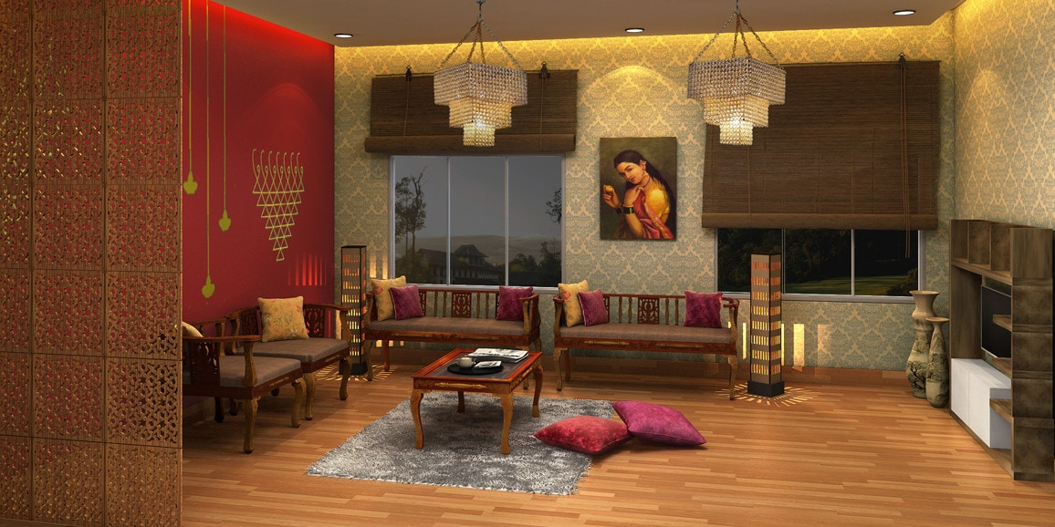 Indian ethnic living room designs online the maharaja - Ethnic indian living room designs ...