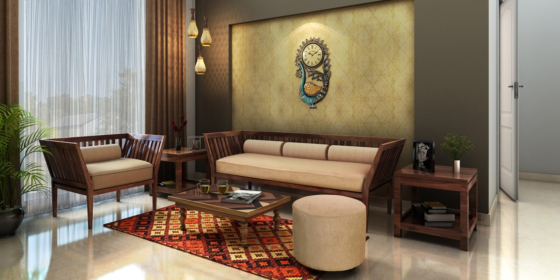 Indian Ethnic Living Room designs Online: Traditional ...