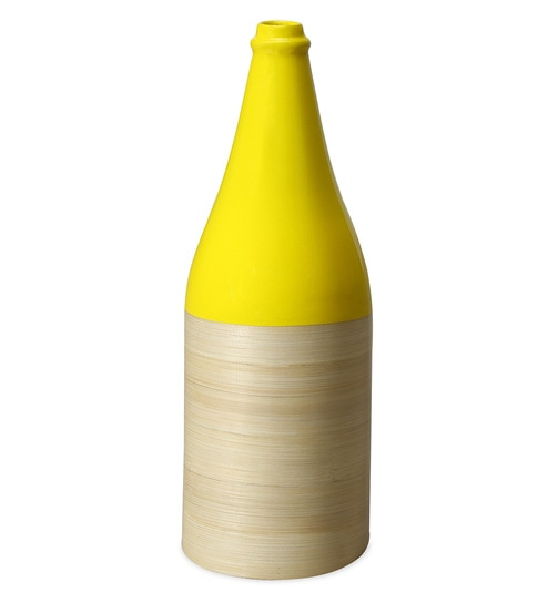 Buy Yellow Bamboo Spun Bottle S Vase By Home Online Vases