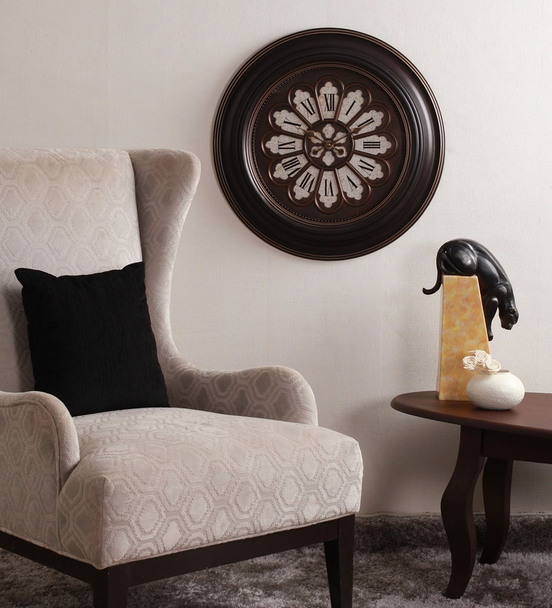 brown plastic romano3 wall clock by home