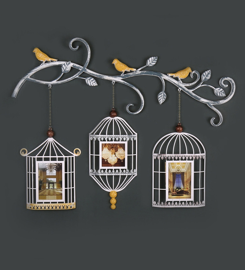 White Plastic Bird Cages Photo Frame by @ Home