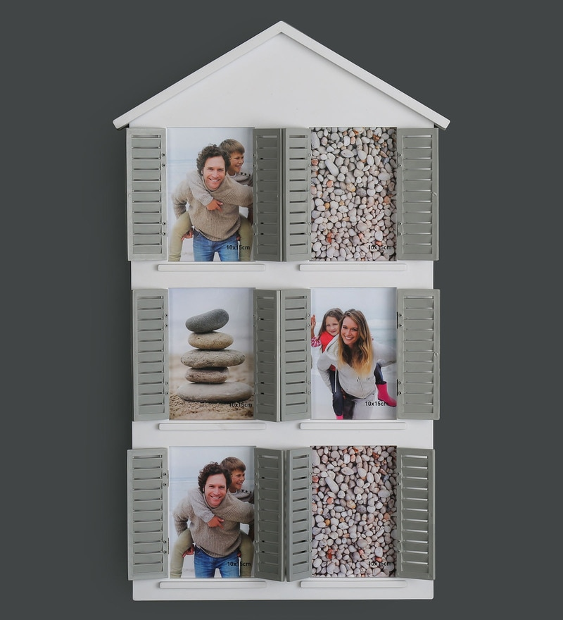 White Plastic Windows Photo Frame by @ Home