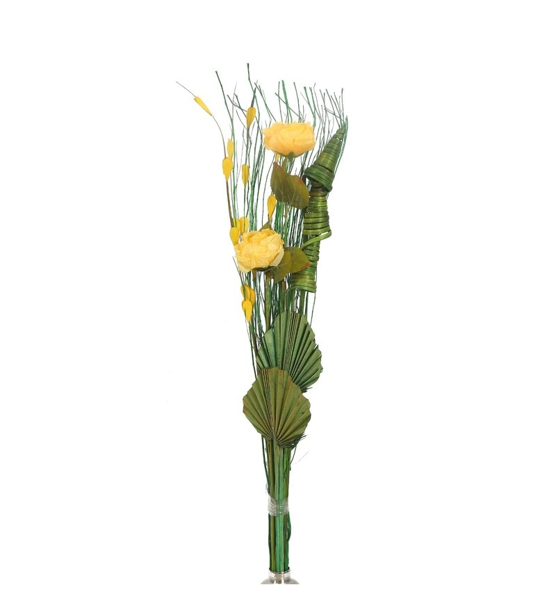 Yellow Wicker Solitary Artificial Flowers by @ Home