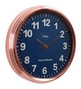 Blue Metal 15.7 x 2.8 x 15.7 Inch Classic Round Wall Clock by @ Home