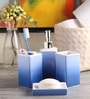 @ Home Blue Porcelain Bone China Bath Accessories - Set of 4