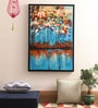 Green & Blue Canvas 35.83 x 1.81 x 23.62 Inch Framed Painting by @ Home By Nilkamal