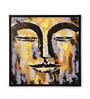 Canvas & MDF 31.5 x 1.2 x 31.5 Inch Earthy Buddha Face Framed Art Print by @ Home