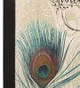 @ Home Canvas & Wood 14 x 3 x 19.1 Inch Traditional Peacock Feather Framed Painting