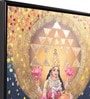 Canvas & Wood 25.6 x 1.6 x 37.4 Inch Lakshmi Religious Framed Painting by @ Home