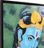 Canvas & Wood 33.5 x 1.6 x 33.5 Inch Hare Krishna Religious Framed Painting by @ Home