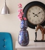 @ Home Indigo Glass Garden Decor Vase