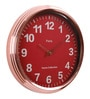 Pink Metal 15.7 x 2.8 x 15.7 Inch Classic Round Wall Clock by @ Home