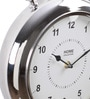 @ Home Silver Metal Analog Desk Clock