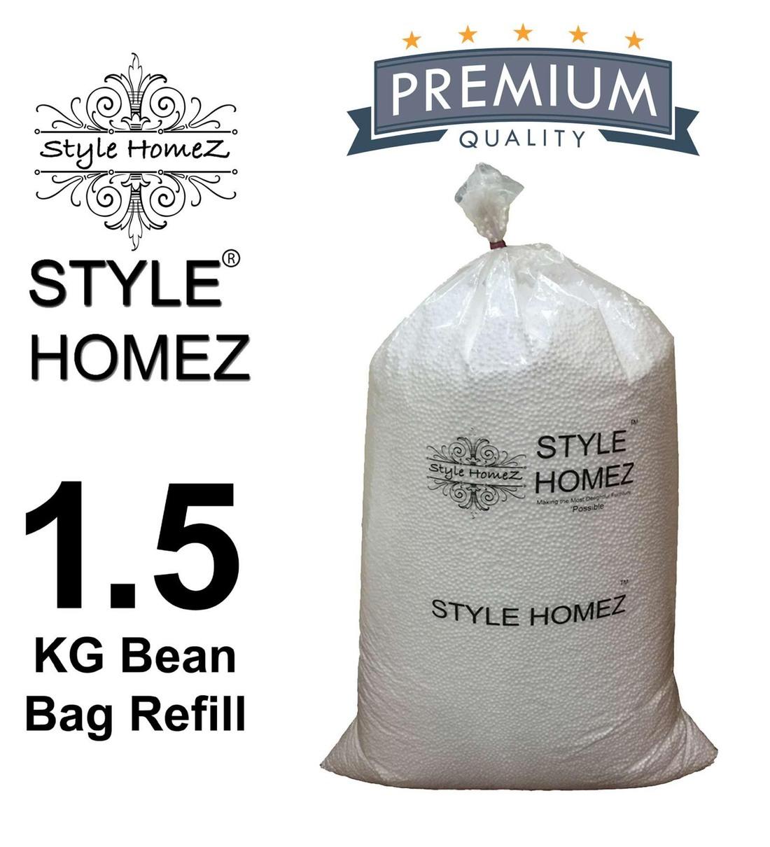 Buy 1.5 Kg High Quality Polyurethane Bean Bag Refill Beans by Style Homez Online - Bean Bag