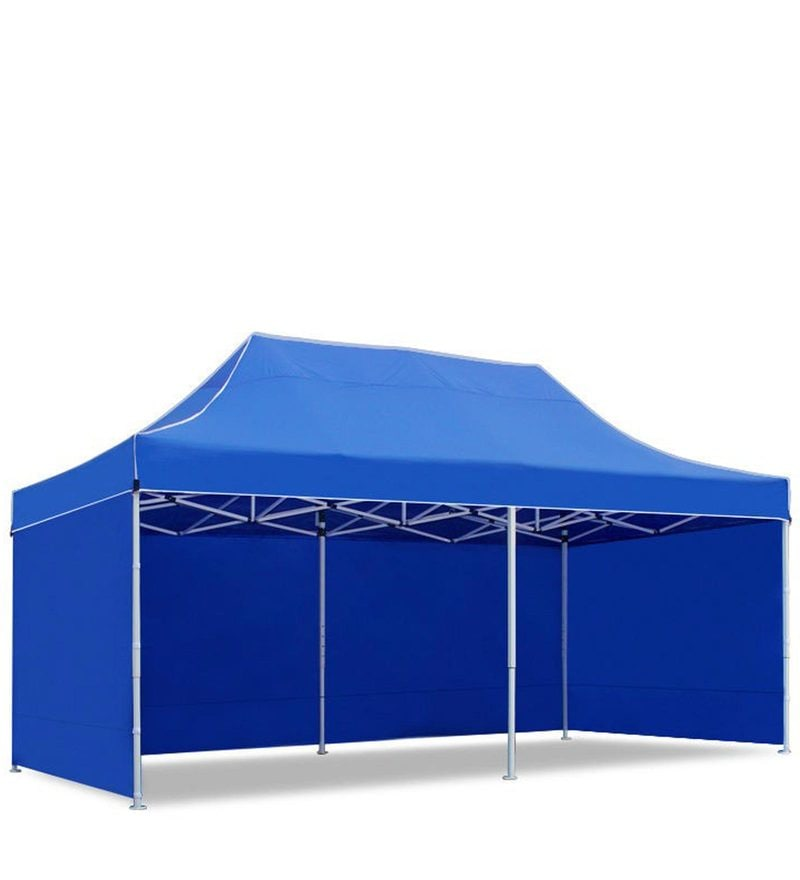 Portable Heavy-Duty Gazebo with Side Cover in Blue Colour by Adapt Affairs