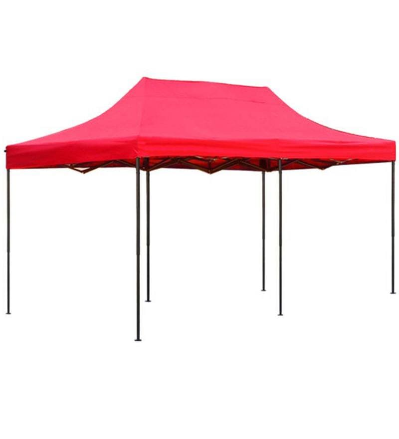 Portable Heavy-Duty Gazebo with Side Cover in Red Colour by Adapt Affairs