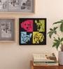 10am Wood & Canvas 9 x 0.5 x 9 Inch Dog Framed Digital  Digital Art Print