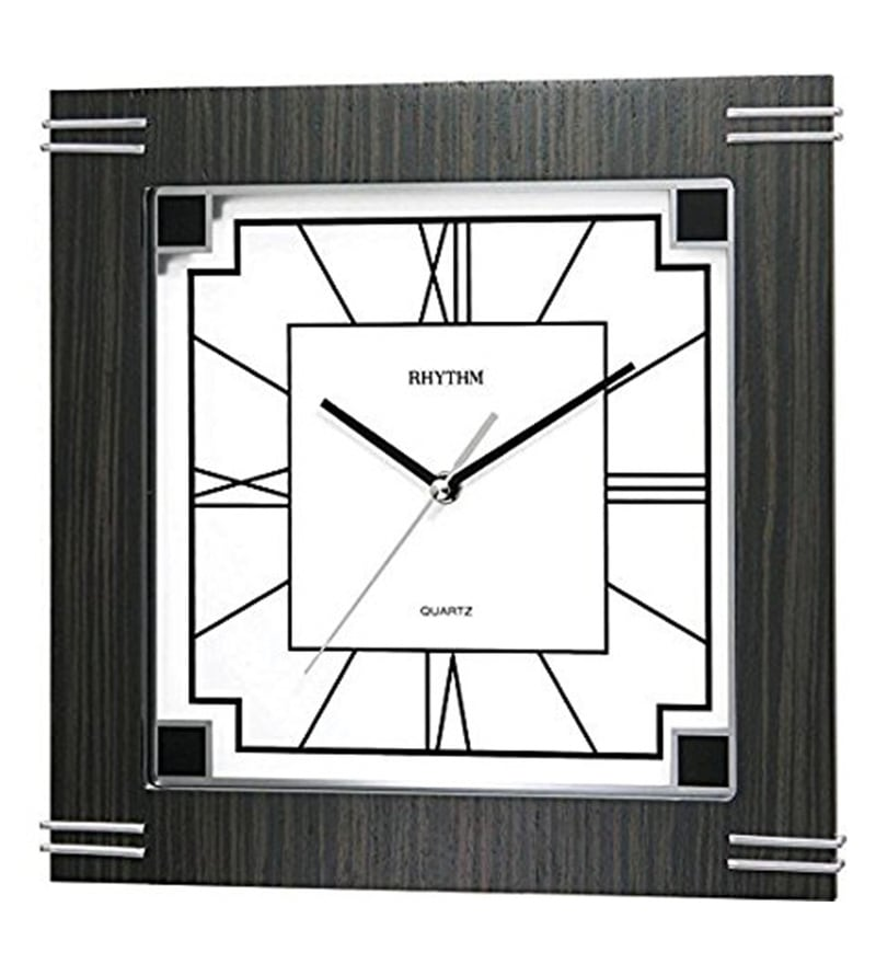 11.4 x 1.8 x 11.4 Inch Wall Clock Silent Silky Move Analog Clock by Rhythm