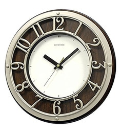 12.2 X 1.8 X 12.2 Inch Wall Clock 3D Dial Ring Silent Silky Move Analog Clock