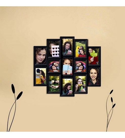 Buy Snap Galaxy Black Synthetic Wood Collage Photo Frames Online ...