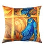 13 Odds Yellow Poly Taffeta 16 x 16 Inch Classic African Woman Print & Embroidery Cushion Cover