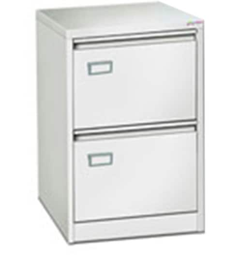 Two Drawer Vertical Filing Cabinet in White Finish by Godrej Interio ...