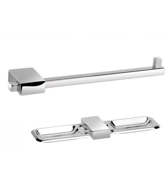 Buy Easyhome Furnish Stainless Steel Bathroom Accessories Set In Nexon Series Set Of 2 Online Bathroom Fixture Sets Bathroom Fixtures Homeware Pepperfry Product