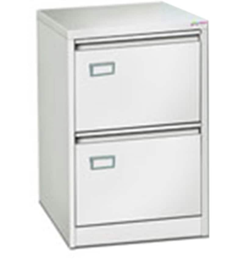 Two Drawer Vertical Filing Cabinet In White Finish By
