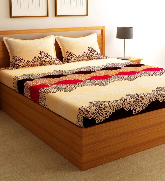 Polycotton Double Bed King Size Sheet, Double Bed Sheet Vs Queen Size