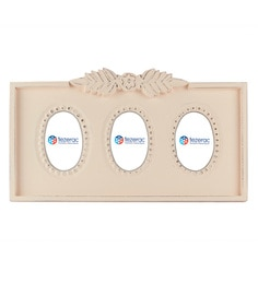 22 X 1.5 Kg X 11.3 Inch Branfod Solid Wood Photo Frame In White Color