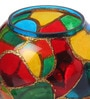 Multicolour Metal Tea Light Holder by Gupta Glass Gallery