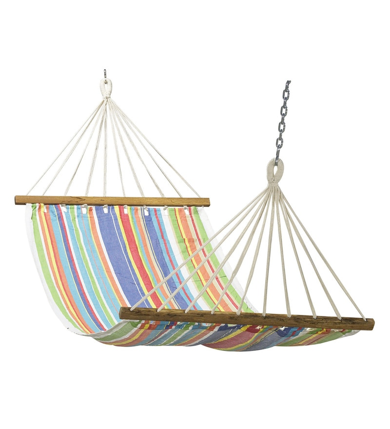Multicolour Cotton Canvas Hammock by Hang It