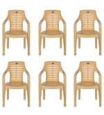 High Back Chair (Set of 6) in Marble Beige Colour