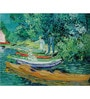 64Arts Canvas 16 x 10 Inch Bank of the Oise at Auvers by Vincent Van Gogh Unframed Digital Art Print