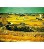64Arts Canvas 16 x 12 Inch Harvest at La Crau with Montmajour by Vincent Van Gogh Unframed Digital Art Print