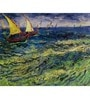 64Arts Canvas 18 x 14 Inch Seascape at Saintes-Maries by Vincent Van Gogh Unframed Digital Art Print