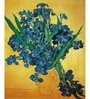 64Arts Canvas 14 x 16 Inch Still Life with Irises by Vincent Van Gogh Unframed Digital Art Print