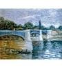 64Arts Canvas 16 x 10 Inch Seine with Pont De La Grande-Jatte by Vincent Van Gogh Unframed Digital Art Print