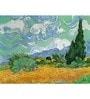 64Arts Canvas 16 x 12 Inch Wheat Field with Cypresses by Vincent Van Gogh Unframed Digital Art Print