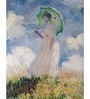 64Arts Canvas 10 x 16 Inch Woman with Parasol by Claude Monet Unframed Digital Art Print