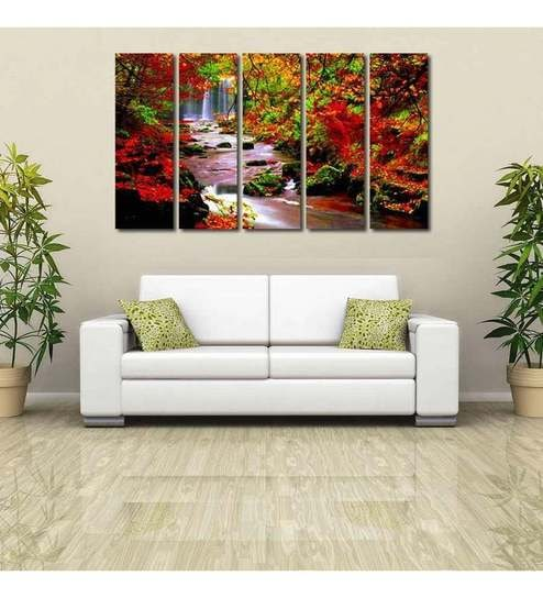 999 Store Forest River Modern Wall Art - 5 Frames by 999Store Online ...