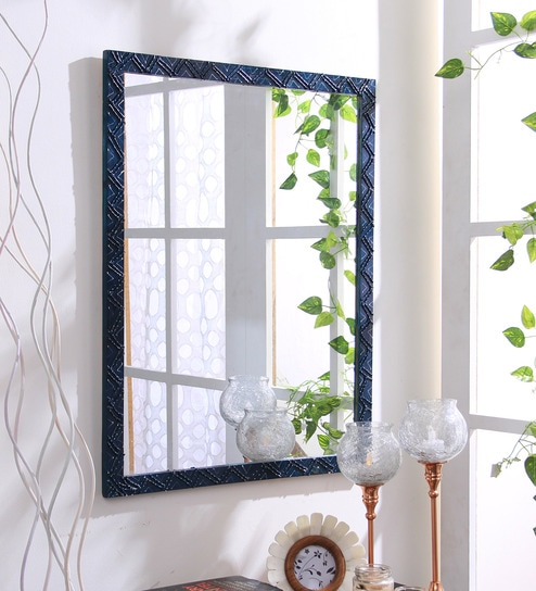 Buy Jeanne Rectangular Wall Mirror In Solid Wood Frame By 999store