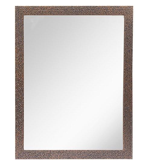 999Store Brick Brown Fiber Glass Framed Bathroom Wall Mirror