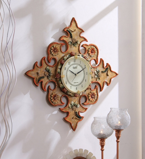 3c9cc5df2e Buy Multicolour Wood Wall Clock by 999Store Online - Indian Ethnic Wall  Clocks - Wall Clocks - Decor - Pepperfry Product