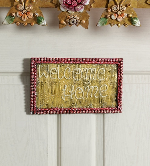 Buy 999store Multicolour Wooden Welcome Home Name Plate Door