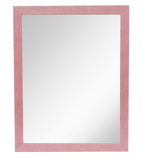 Buy 999store Pink Fiber Glass Framed Decorative Wall Mirror Online