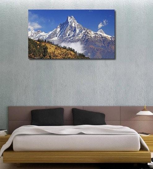 buy 999store snow mountain peak multicolour vinyl wall sticker
