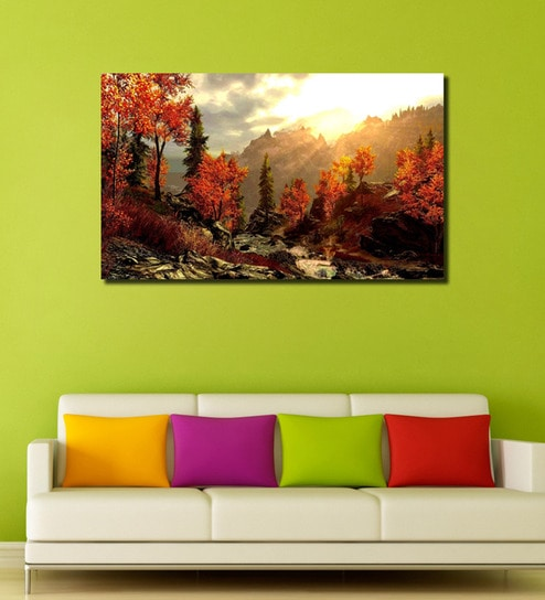 Cotton Canvas 60 x 0 4 x 36 Inch Abstract Forest Tree Painting Unframed  Digital Art Print by 999Store